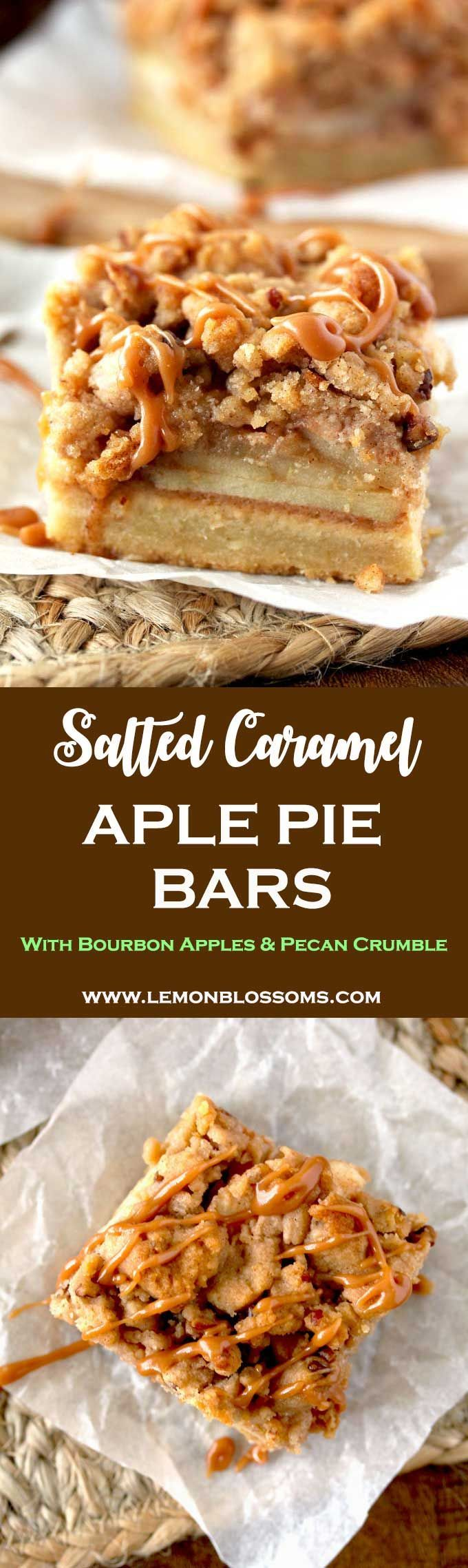 Salted Caramel Apple Pie Bars | Posted By: DebbieNet.com