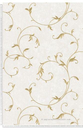 Feuillage classique satiné doré - Papier peint Romantica 3 d'AS Création