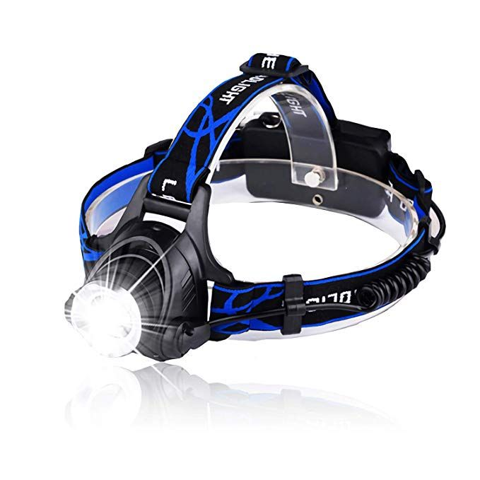 Led Rechargeable Headlamp Hunlee 1200 Lumen Head Lamp 3 Modes Head Light With Zoomable Headlight Flashligh Rechargeable Headlamp Adjustable Headband Headlamp