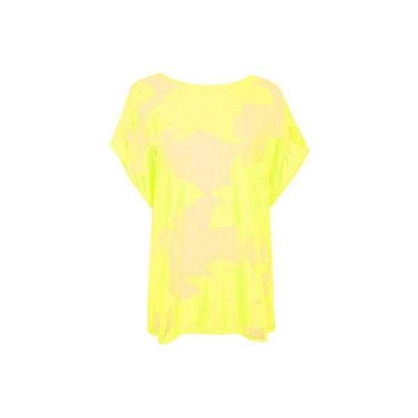 George Neon Mesh Floral Kaftan ($15) ❤ liked on Polyvore featuring tops, tunics, lime, kaftan tops, mesh top, beach caftan, floral tunic and neon yellow top