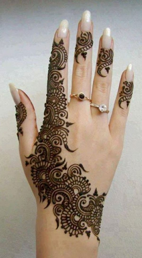 Mariage alliance mains avec henna - Henne simple main ...