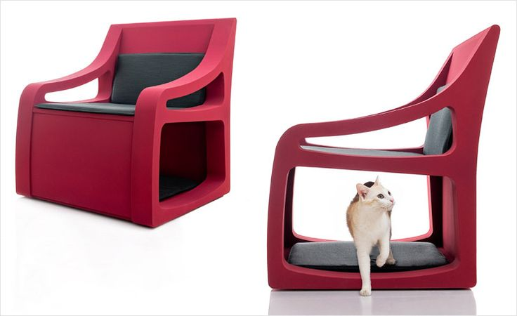 Pet Armchair - dog / cat bed under the seat
