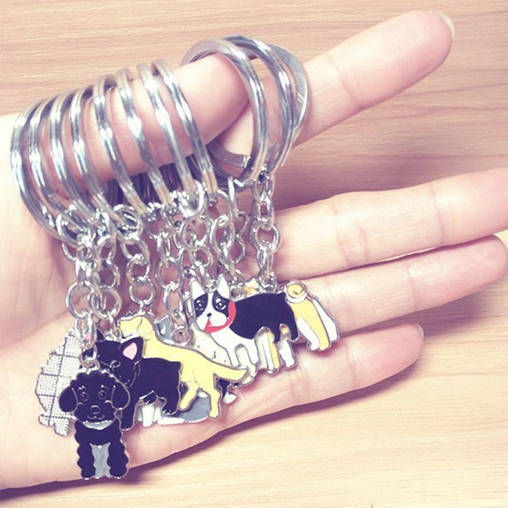 Corgi Husky Metal Keychain Super Discount Trinket Car Keyring French Bulldog Keychain Women Fashion Jewelry Accessories