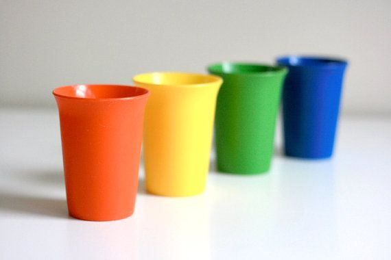 vintage tupperware cups-really wish my mom hadn't gotten rid of these!!!! her future grandchildren will need them :)