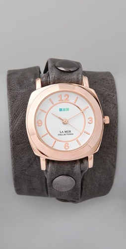 pretty wrap watch with rose gold face