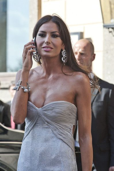 Elisabetta Gregoraci Photos - David Arquette Leaves Petra Ecclestone's Wedding - Zimbio