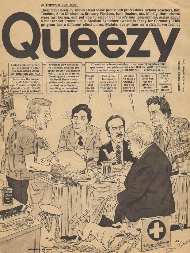 Queezy - a Mad Magazine parody of Quincy ME (1981 ...