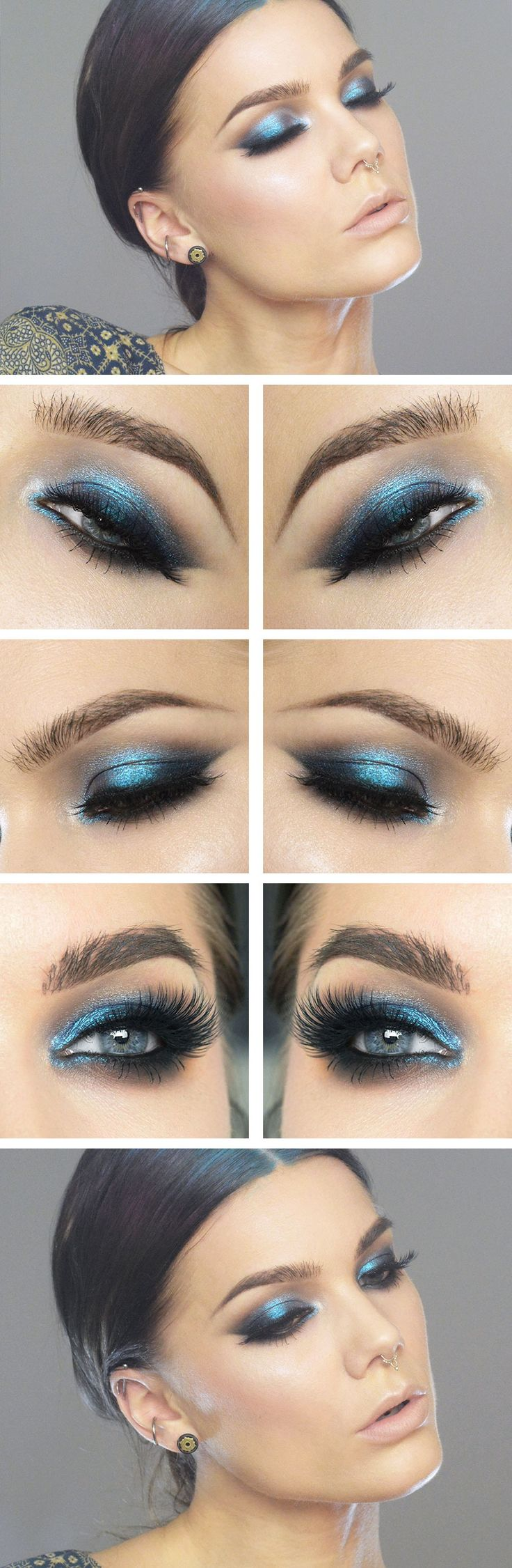 Another blue eyeshadow look that is a little brighter and bolder. While I'm not entirely sure on the depth of the colour as it is quite dark, I do like the smoky look.