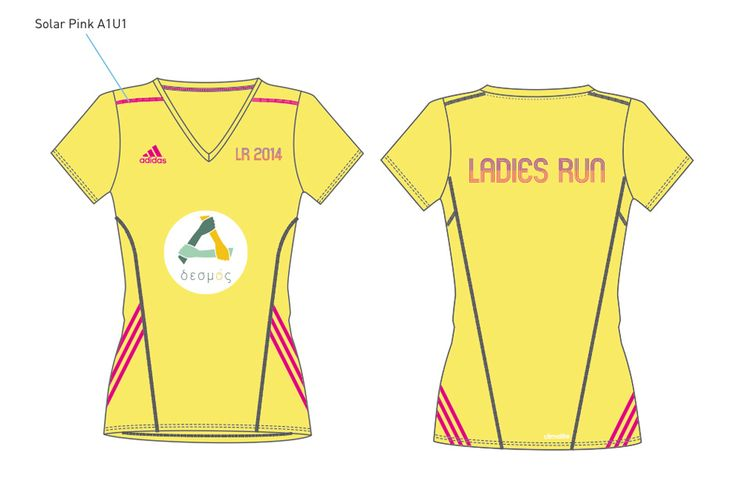 The official @ladiesrungreece 2014 T-shirt, powered by @adidas.