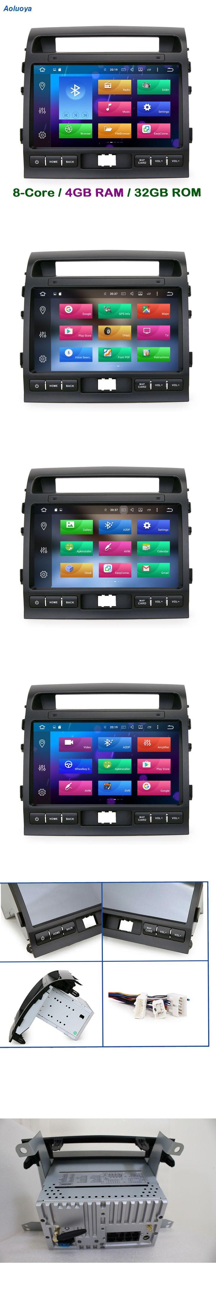 Aoluoya RAM 4GB Octa Core Android 6.0.1 CAR DVD GPS Player For Toyota Land Cruiser 200 LC200 2008-2015 Radio Navigation WIFI DAB