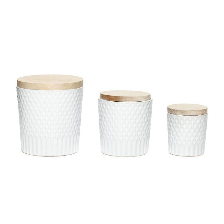Hübsch Hübsch voorraad potten keramiek (3 stuks)