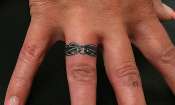 tattooed wedding ring