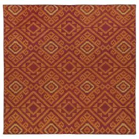 Kaleen Nomad Red Square Indoor Handcrafted Southwestern Area Rug (Common: 8 X 8; Actual: 8-Ft W X 8-Ft L) Nom05-25-88 Sq