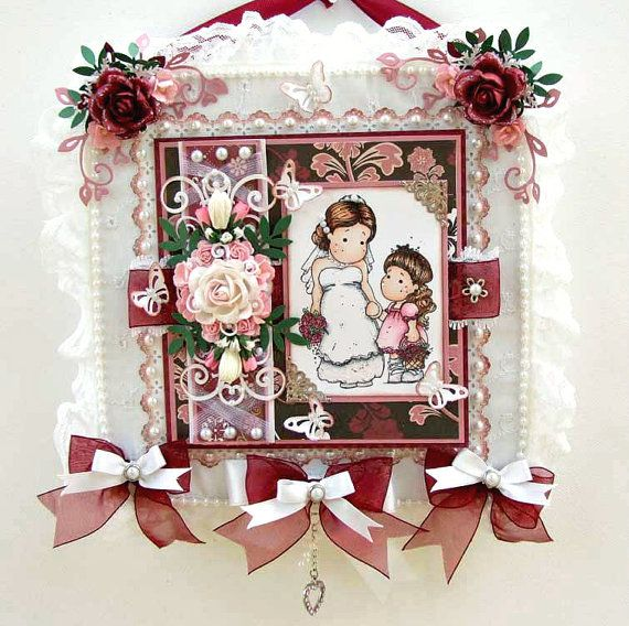 Wedding Bride Card Keepsake - Magnolia Tilda papercraft designs by DreamtimeDesigns