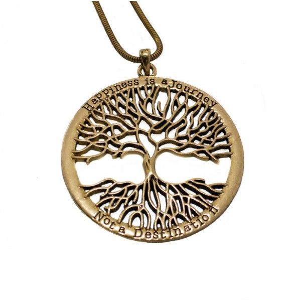 Tree of Life Long Gold Necklace - The Chic Nest