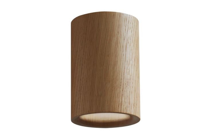 Solid Cylinder Downlight Natural Oak by Terence Woodgate