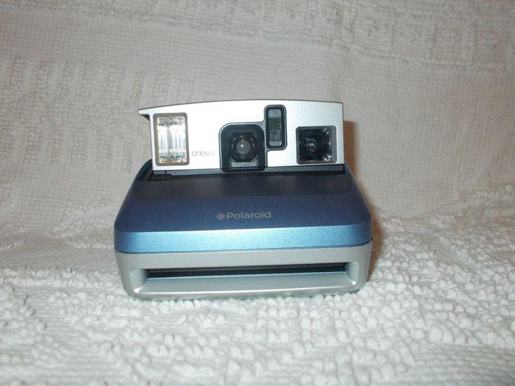 Polaroid One600 Light Blue Classic Instant Film Flash Photography Camera  #Polaroid