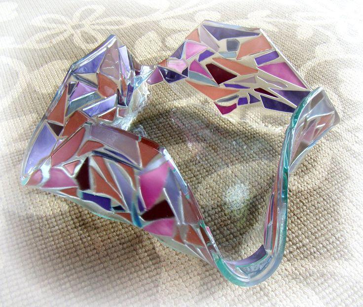Misa szklana z manufaktury Riwal. Fusing. Fused glass.