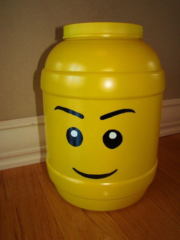 Crafts: DIY Lego head storage container