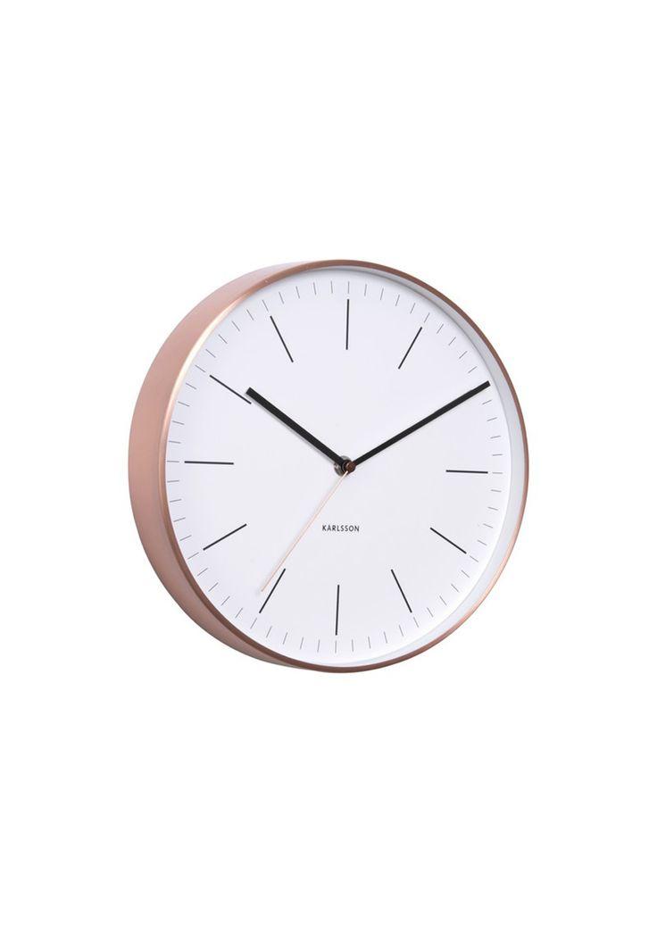 Karlsson - Wall Clock 'Minimal' - White - Karlsson Clocks - Onceit