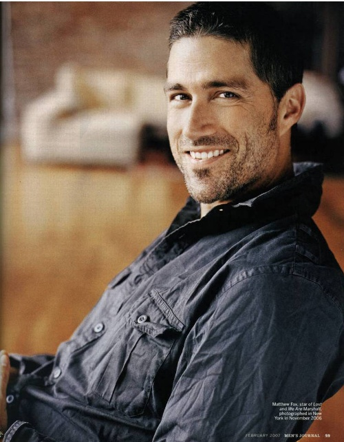 Matthew Fox aka Jack from Lost. Hot doctor with tattoos. Sounds like my soulmate <3