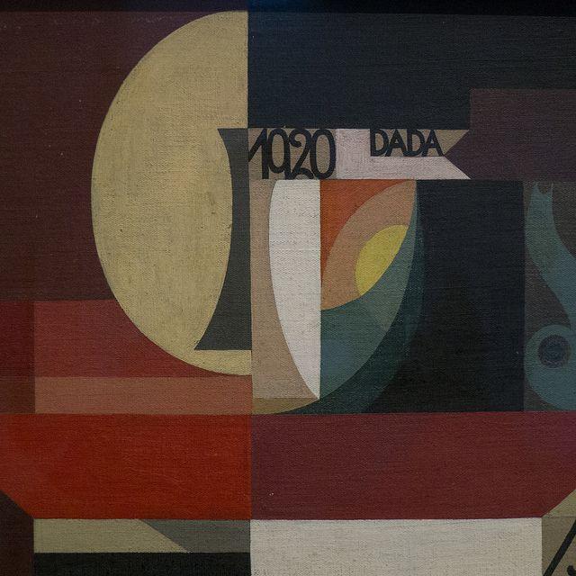 """Sophie Taeuber-Arp (1889-1943), """"Composition Dada (Tête au plat)"""", 1920. Musée national d'art moderne, Centre Pompidou (Paris, France)   Fli..."""