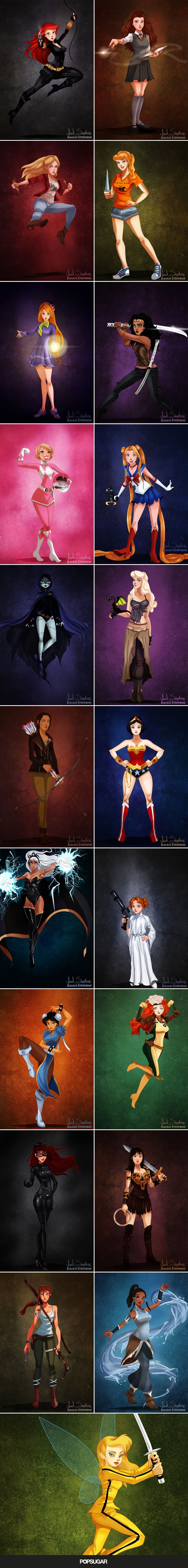 See Disney characters dressed in Halloween costumes. Ariel as Black Widow. Alice as Buffy!! Awesome!!