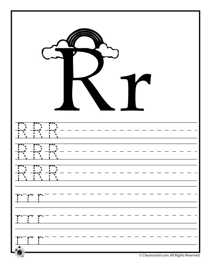learning abcs worksheets learn letter r classroom jr
