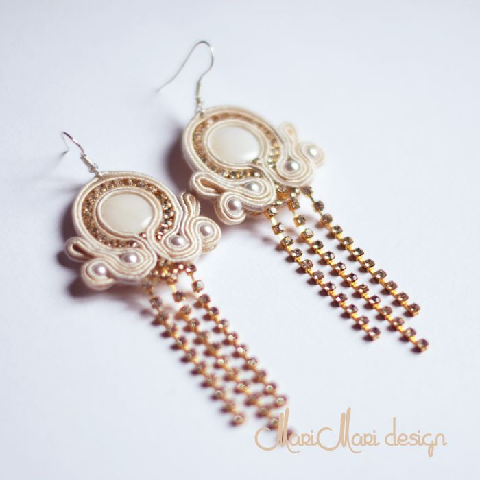 #brincos #earrings #bridal #pérolas #pearls #soutache #wedding #white gold #branco oro