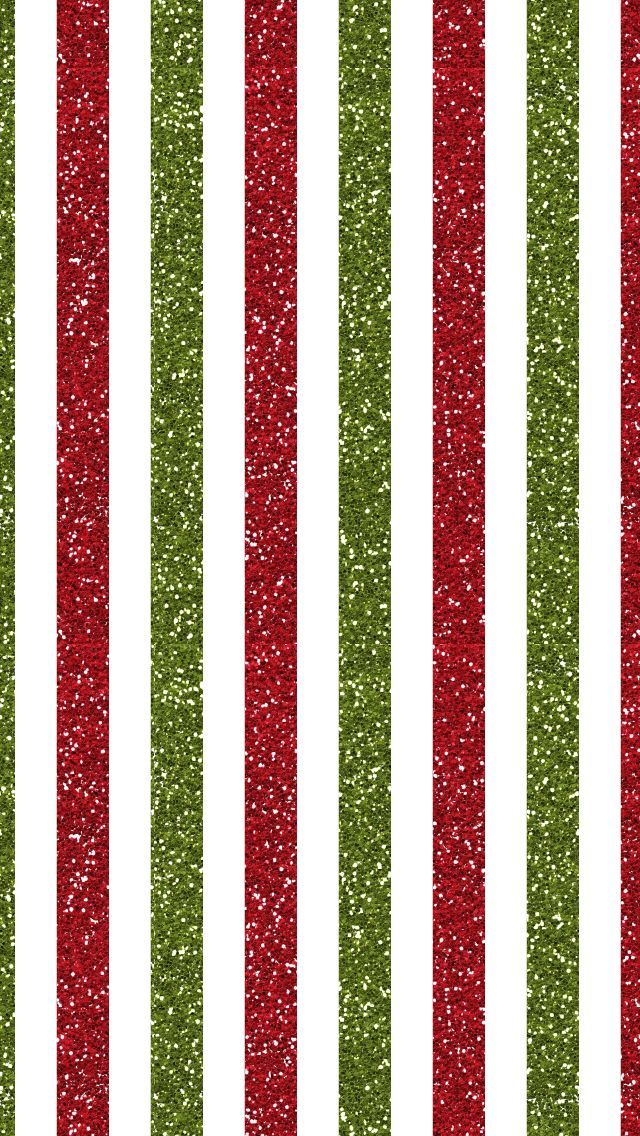 GLITTERING RED AND GREEN STRIPES ON WHITE GROUND SMART PHONE WALLPAPER DESIGN. @prettywallpaper