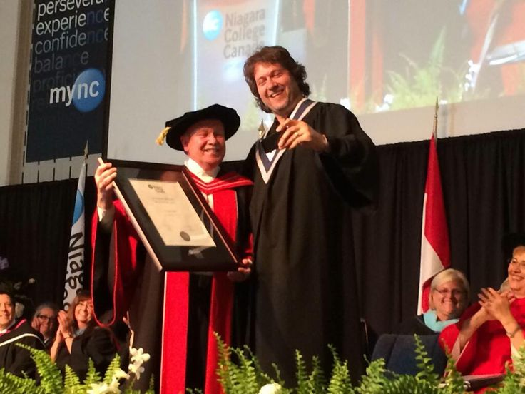 Thank you @Niagara_College for my honourary degree in culinary arts> I'm  proud to be a part of the family!