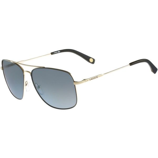 Lacoste Men's Aviator Sunglasses (170380 IQD) ❤ liked on Polyvore featuring men's fashion, men's accessories, men's eyewear, men's sunglasses, accessories, light gold, sunglasses sunglasses, mens eyewear, mens sunglasses and mens aviator sunglasses