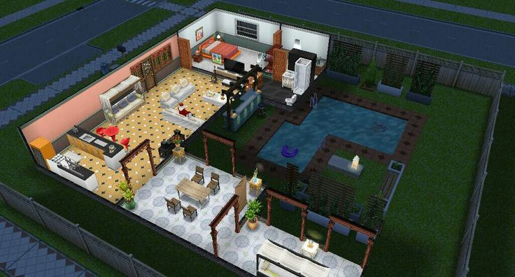 The sims freeplay game. My home design ...