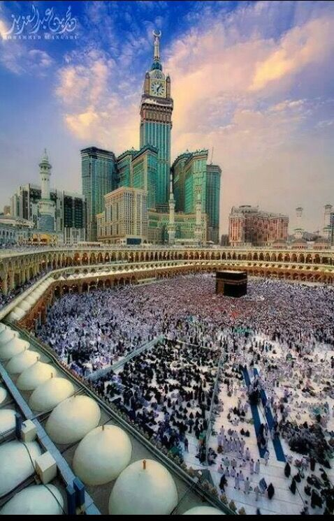 Makkah, in Saudi Arabia Has the holy Qaba and the tallest clock in the world