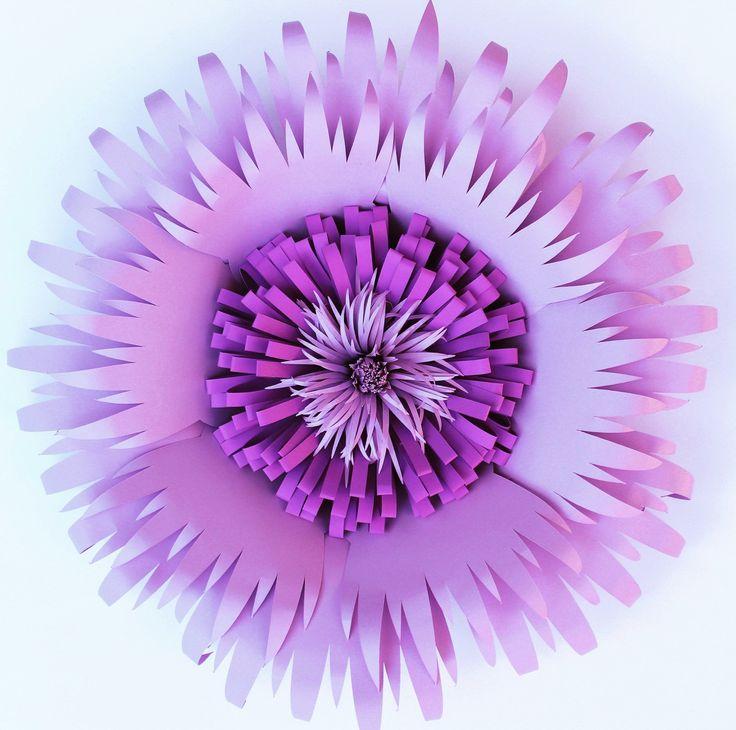 Flores de papel gigantes Telón de fondo papel de por APaperEvent