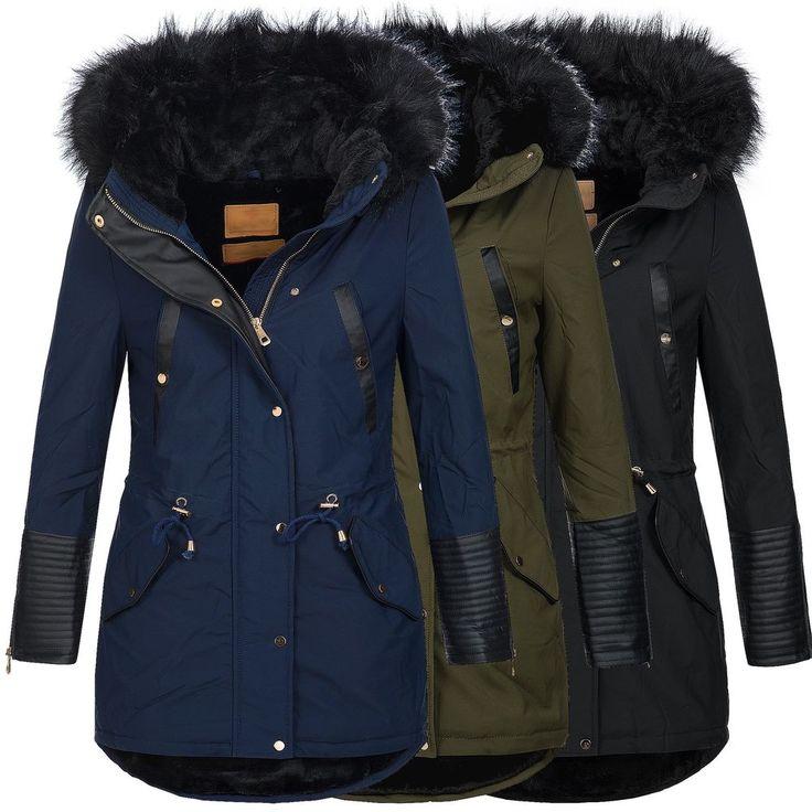 BOL Damen Jacke Mantel Winterjacke Parka warm gefüttert 15651 S-XXL | Kleidung & Accessoires, Damenmode, Jacken & Mäntel | eBay!