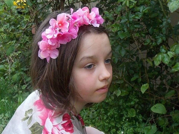 Pink Hydrangea Flower Headband, Pink Flower Crown, Hydrangea Floral Crown, Pink Flower Headpiece, Fairy Headband, Spring Wedding Flower Girl by FairyFlowerDreams on Etsy