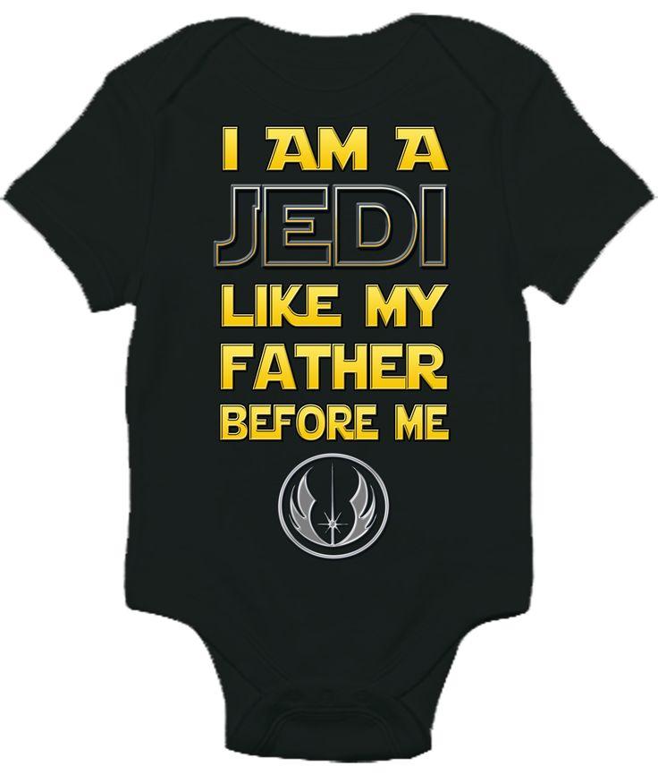 Baby Bodysuit   Star Wars I Am A Jedi
