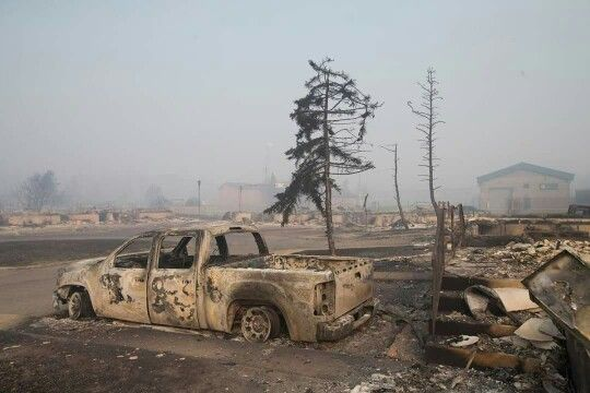 Fort McMurray 2016 Forest fire aftermath