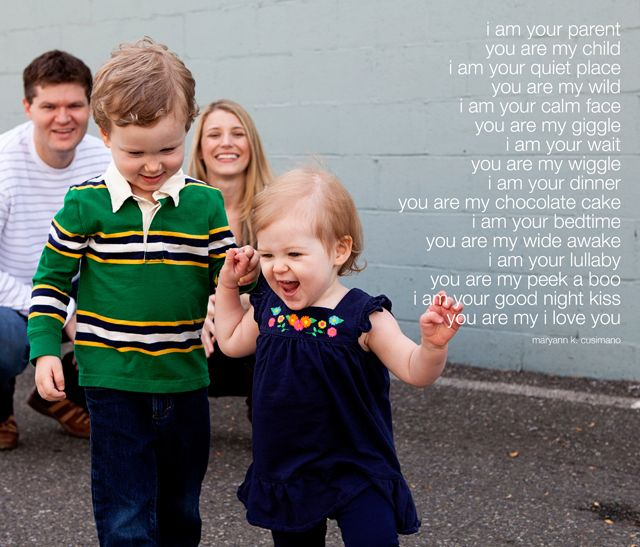 Perfect parent poem and picture