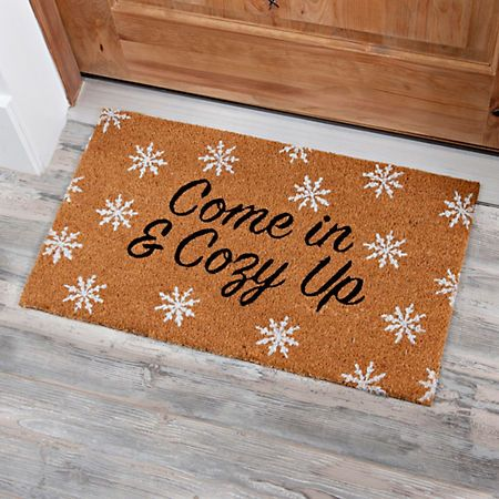 Coir Fiber Come In And Cozy Up Christmas Mat Christmas