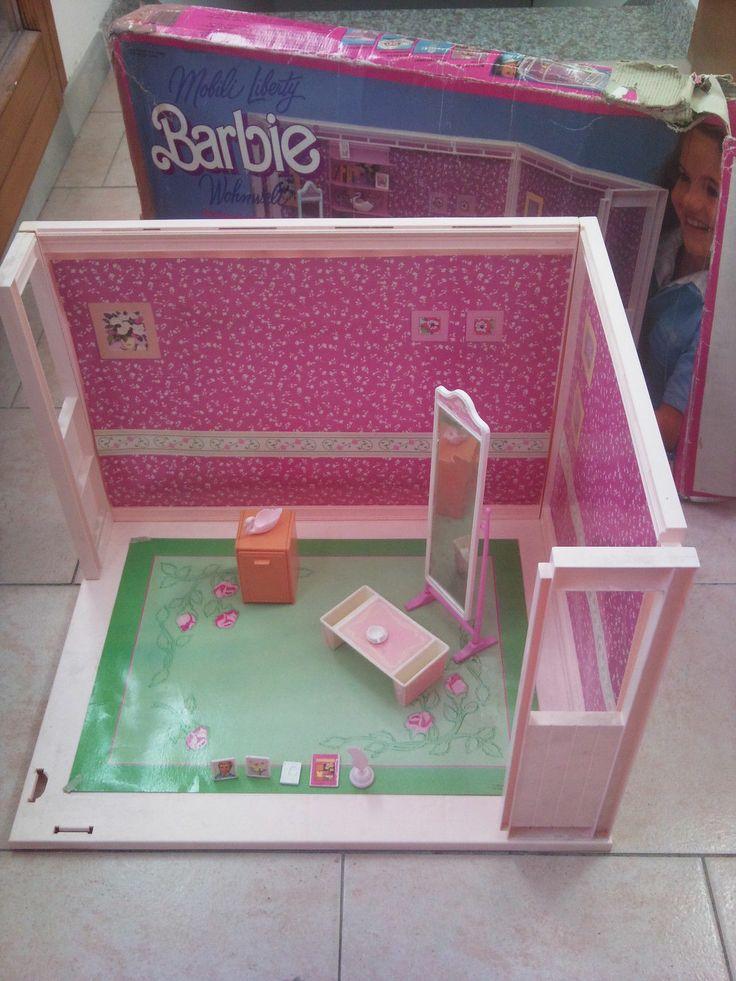 BARBIE LIVING PRETTY MOBILI LIBERTY BEDROOM CAMERA DA LETTO STANZA CASA | eBay