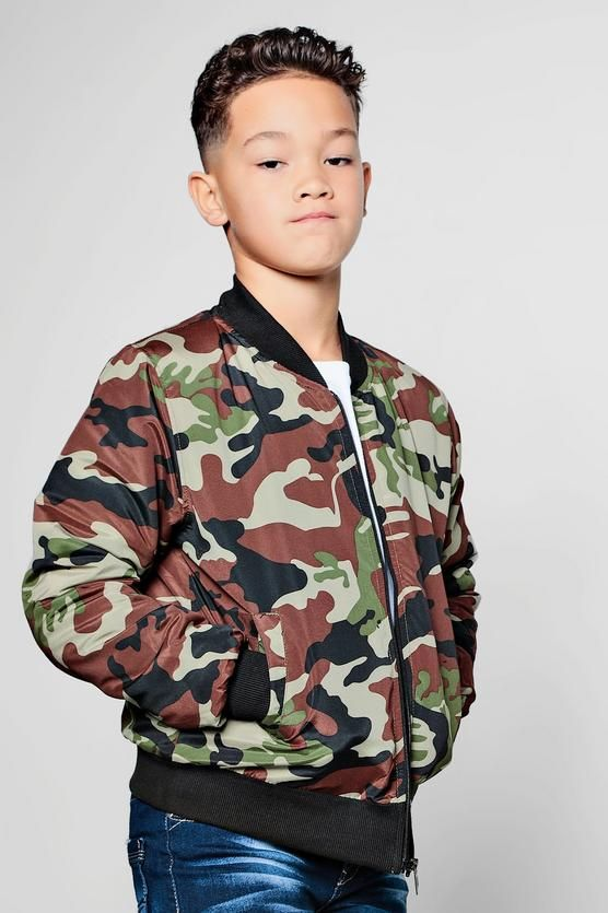 """KIDS & FASHION Boys Camo Bomber Jacket   #Brands #children #save4save #happy #dior #Shoes #bags #new #cute #Boys #toddlers #beautiful #share4share #streetstyle #Juniors #moschino #happy #linkinprofile #clothing #modern #girls"""