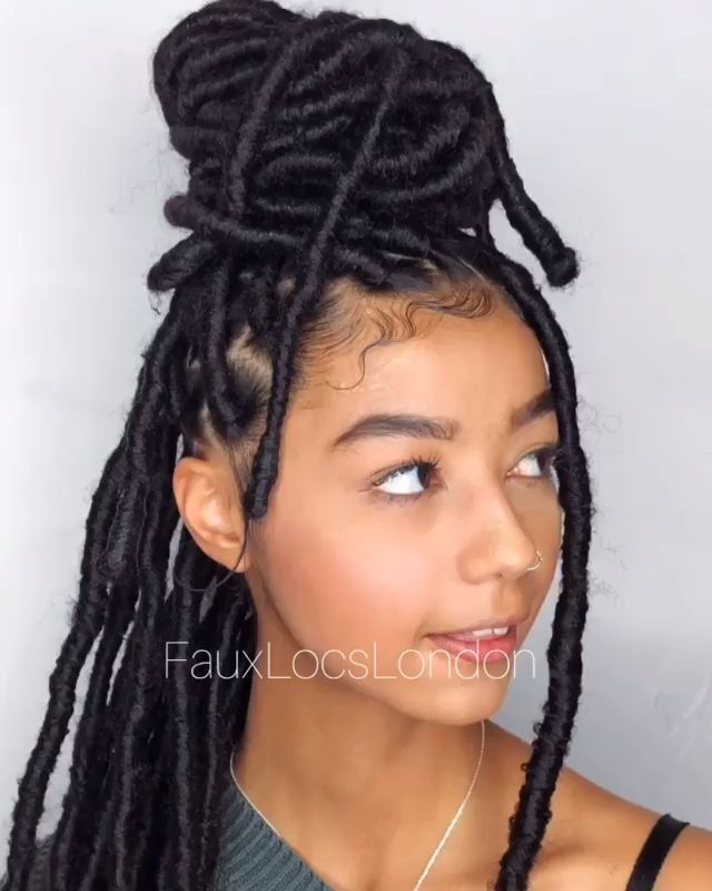Protective Styles Faux Locs In 2020 Hair Styles Faux Locs Hairstyles Locs Hairstyles
