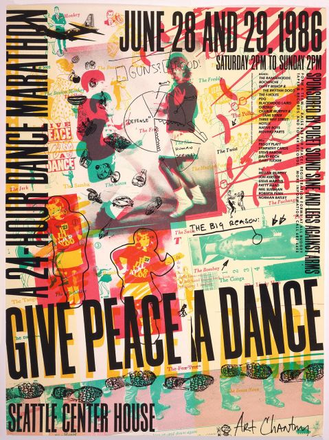 Give Peace a Danc, Art Chantry, 1986.