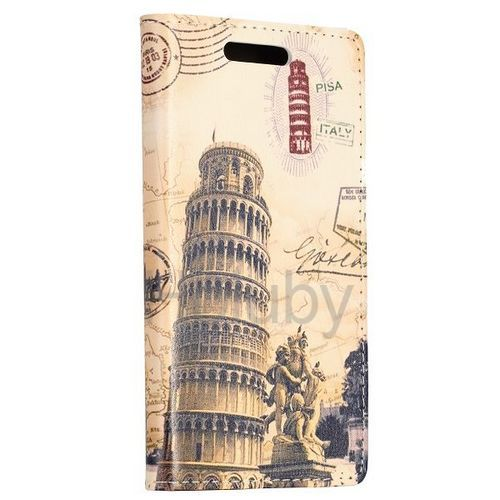 New Arrived Foldable Stand Leather Case for Sony Xperia M2 S50h with Card Slots (Leaning Tower of Pisa Pattern)