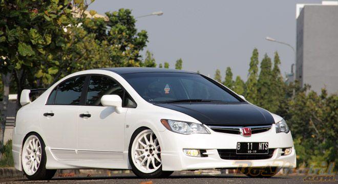 Modifikasi Honda All New Civic Putih | Modif Mobil | Pinterest | Honda