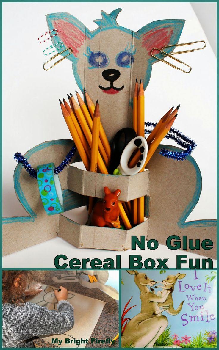 Kangaroo DIY Pencil Holder. The Correct Pencil Grip. Letter K Is for Kangaroo. Creative ABCs - Preschool Alphabet Activities and Crafts.