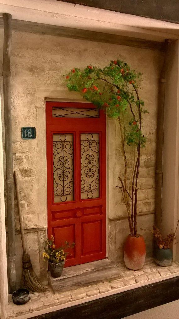 Miniature Door Art ,Diorama , Dollhouse ,Wall Art ,Shadow Box Home Decore