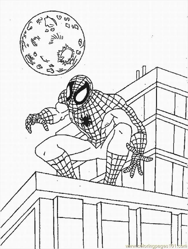 Spiderman Coloring Pages Free Pdf